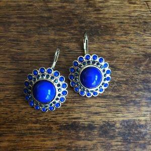 Banana Republic blue jeweled drop earrings